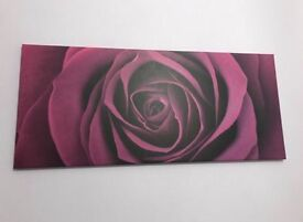 Canvas, purple themed canvas rose
