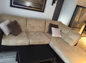 Sofa sectionnel beige