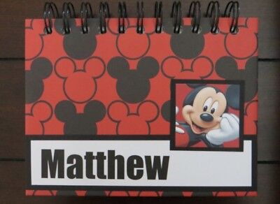 Personalized Autograph Book (Personalized Disney Autograph & Photo Book - Mickey)