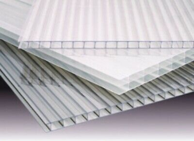 Polycarbonate 4wall Clear Sheets Pak Of 4 2 Wide X 6 Long X 91614mm