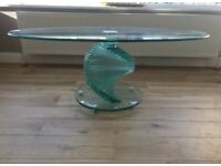 Glass Spiral Coffee Table