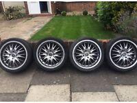 17inch wheels with tires Alloys HONDA