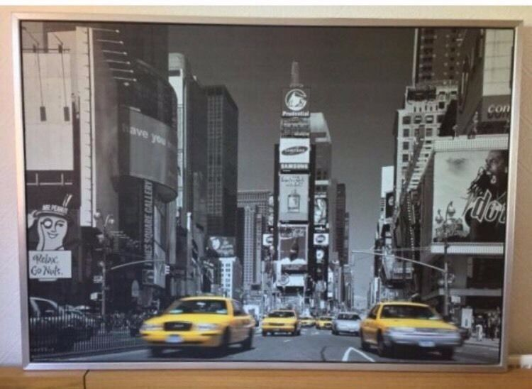 ikea large new york times square print picture in leytonstone london gumtree. Black Bedroom Furniture Sets. Home Design Ideas