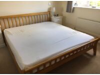 Lovely super king size bed frame, great condition, no mattress, free delivery
