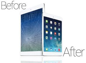 IPad glass replacement at 49$ only!! iPhone 5S 45$