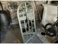 Brand New Boxes Silver Arched Mirror