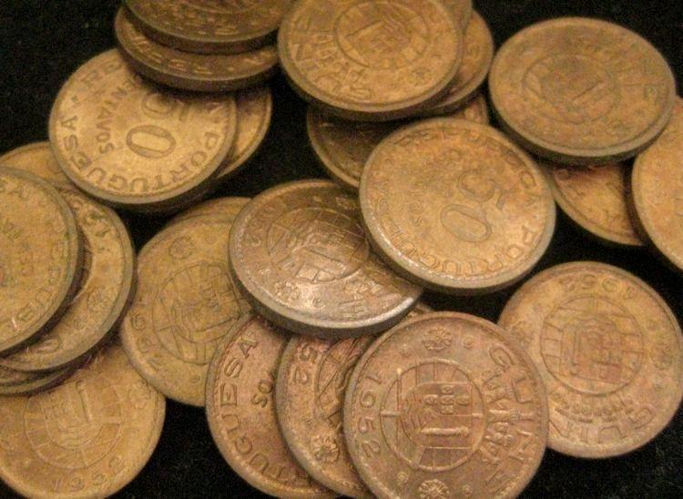 portuguese Guinea Guinea-Bissau 50 Centavos 1952 BU LOT OF 25 BU COINS  LAST ONE