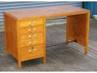 Vintage retro wooden mid century antique work office artist desk w drawers shabby chic