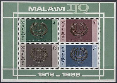 Malawi 1969 ** Mi.Bl.13 internationale Arbeitsorganisation labour ILO [st3287]
