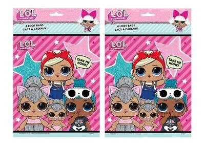 LOL Surprise Loot Favor Candy Bags Birthday Party 16 Pieces (Candy Party)