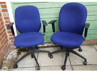 2 x used office chairs - £30