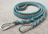 Braided Paracord Reins from Rope Horse Tack