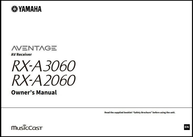 Yamaha RX-A3060 / RX-A2060 AV Receivers Owner's Manual - Ope