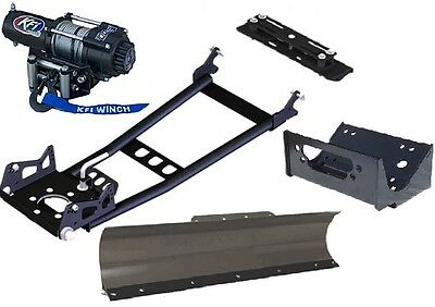 "48 "" ATV SNOW PLOW & 3000 LB WINCH HONDA TRX420 420 RANCHER 4WD IRS MODELS 2014"