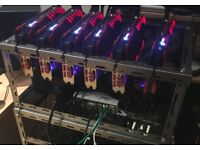 6x1070Ti Mining Rig - high quality components