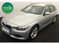 £271.97 PER MONTH SILVER 2013 BMW 318D 2.0 SE TOURING ESTATE DIESEL MANUAL
