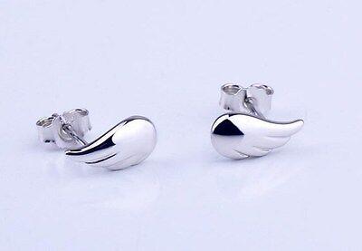 3D 925 Sterling Silver Ear Crawlers Angel Wings Stud Earrings Gift Box AJ