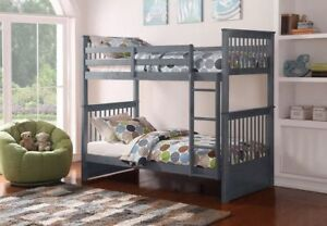 Bunk Bed Single Solid Wood Colours - WAREHOUSE SALE