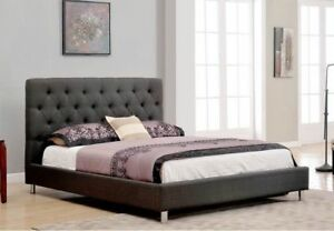 BRAND NEW SEALED TUFTED UPHOLSTERED BED FREE DELIVERY IN GTA