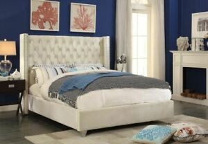 BRAND NEW IN BOX - QUEEN SIZE UPHOLSTERED BED $700 I CAN DELIVER