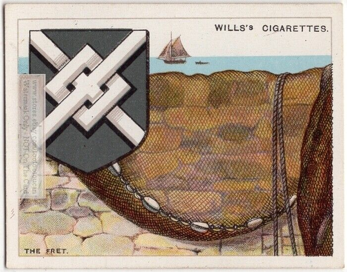 The Fret Used On Coat Of Arms Or Family Crest 1920s Ad Trade Card