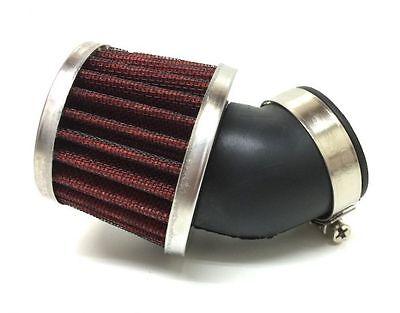 32mm 45 Grad Sport Luftfilter Powerfilter f. Tuning Vergaser für 50ccm Roller