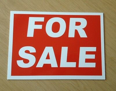 For Sale Sign. Quality 3mm plastic sign.  (BL-27)