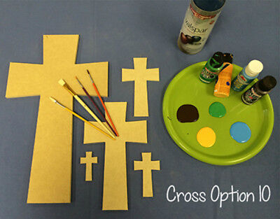 Wooden Cross Shape, (10) Wood Wall Hanging Cross, Paintable Wood Cross, Craft