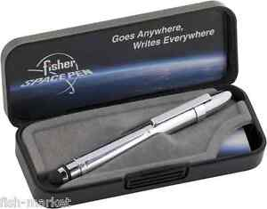 BGCCL/S Chrome Bullet Grip  Fisher Space Pen w Stylus AND CLIP for TOUCH SCREEN