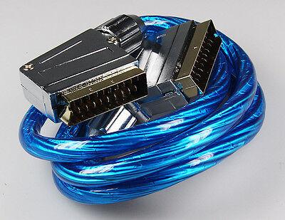 Skymaster® Hq Scart-kabel 1,2m Blau, Vergoldete Kontakte, Metallisierte Stecker