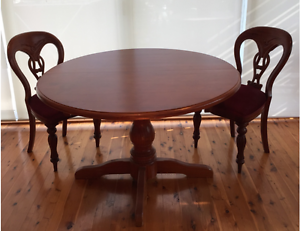 Extendable wooden dining table + 4 chairs Artarmon Willoughby Area Preview