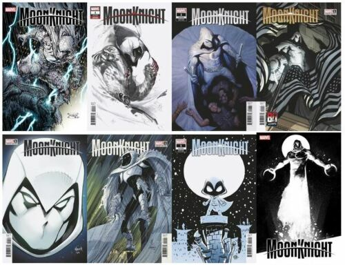 🔥 MOON KNIGHT #1 (2021,MARVEL) SET LOT OF 8 COVERS   🔥