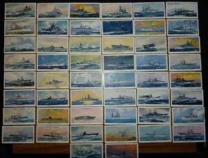 Modern Naval Craft-Complete Set of 50 Cigarette Cards - JP & Sons Wembley Cambridge Area Preview
