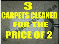 Professional Carpet Cleaning 60% off 3 carpets now £49