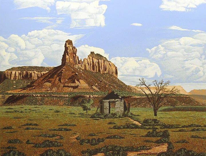"Dallas John ""weathering"" Signed Fine Art Serigraph Western Landscape Submitoffer"