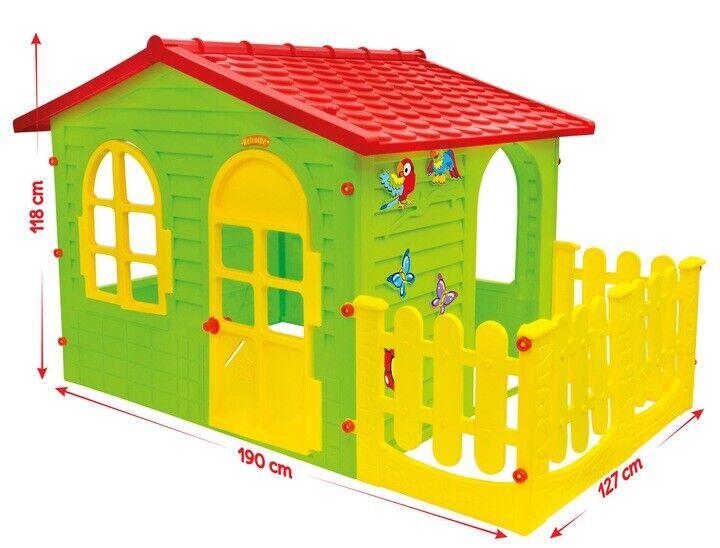 XXL Spielhaus mit Terrasse Kinderhaus Kinderspielhaus Gartenhaus Kunstoff XXL
