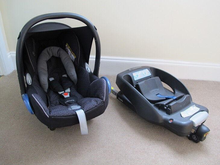 Maxi Cosi Cabriofix Car Seat + Maxi Cosy Isofix Easy Base