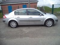 06 renault megane 1.5 dci 4 dr saloon t diesel drivs well g condition full yrs mot