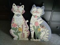 Cats-Country Decor-Cat Decoration-Spring Decor-Summer Decor