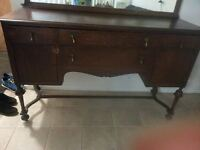 Antique French-Solid Wood Sideboard-Excellent Workmanship