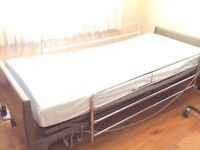 Hospital bed and mattress