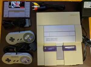 Nintendo SNES with Hockey game