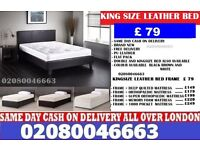 :::FREE DELIVERY::: SINGLE , DOUBLE , KING SIZE LEATHER BED FRAME WITH CHOICE OF MATTRESS