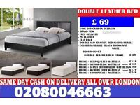 NIA BRAND NEW.SMALL DOUBLE KING SIZE DOUBLE LEATHER BED