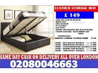 KWA- Single ... Double ... Small Double and King Size LEATHER storage BED