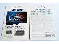 SAMSUNG PRO 128gb MICRO SD CARD CLASS 10 MOBILE PHONE S8 S9 PLUS - NOTE - CAMERA MEMORY