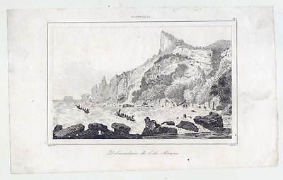 Ozeanien-Polynesien-Pitcairn-Pitcairn Islands Group-Ethnologie-Stahlstich 1836