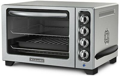 """KitchenAid Steel 12"""" Convection Countertop Toaster Oven MODEL RR-KCO223CU"""