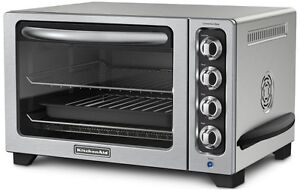 BRAND-NEW-KitchenAid-STEEL-12-Convection-Countertop-Toaster-Oven-MODEL-KC0223CU