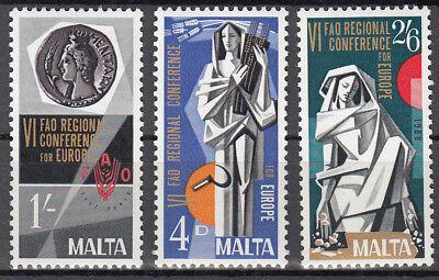 Malta Nr. 383-385** Europ. Regionalkonferenz FAO